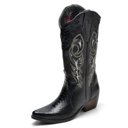 Bota Country Feminina Bico Fino Top Franca Shoes A... - Top Franca Shoes   Calçados confortáveis em Couro