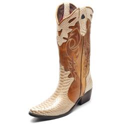 Bota Country Feminina Bico Fino Top Franca Shoes A... - Top Franca Shoes | Calçados confortáveis em Couro