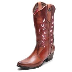 Bota Country Feminina Bico Fino Top Franca Shoes M... - Top Franca Shoes | Calçados confortáveis em Couro