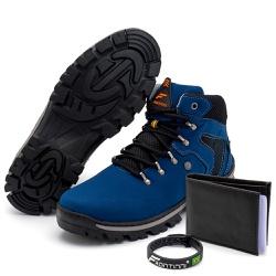 Kit Bota Coturno Adventure + Carteira + Pulseira A... - Top Franca Shoes | Calçados confortáveis em Couro