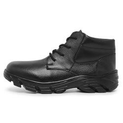 BOTA COTURNO MILITAR PM CANO CURTO EM COURO - Top Franca Shoes | Calçados confortáveis em Couro