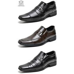 kit 3 Pares Sapato Social Masculino Em Couro - Top Franca Shoes | Calçados confortáveis em Couro