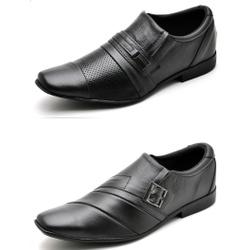 Kit 2 Pares Sapato Social Masculino Top Franca Sho... - Top Franca Shoes   Calçados confortáveis em Couro