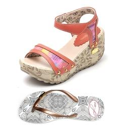 Kit Sandália Anabela e Chinelo Betina Beker Sirigu... - Top Franca Shoes   Calçados confortáveis em Couro