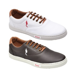 Kit 2 Pares Sapatênis Casual Top Franca Shoes Bran... - Top Franca Shoes   Calçados confortáveis em Couro