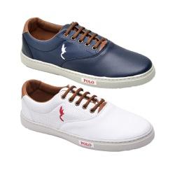 Kit 2 Pares Sapatênis Casual Top Franca Shoes Azul... - Top Franca Shoes | Calçados confortáveis em Couro