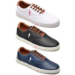 Kit 3 Pares Sapatênis Casual Top Franca Shoes Bran... - Top Franca Shoes | Calçados confortáveis em Couro