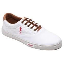 Sapatênis Casual Top Franca Shoes Branco - Top Franca Shoes | Calçados confortáveis em Couro