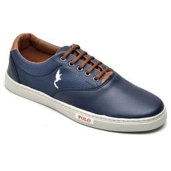 Sapatênis Casual Top Franca Shoes Azul - Top Franca Shoes | Calçados confortáveis em Couro