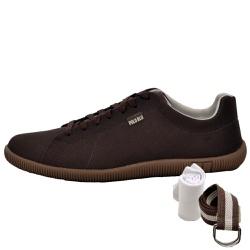 Kit Sapatênis Casual Café + Cinto e Meia - Top Franca Shoes | Calçados confortáveis em Couro