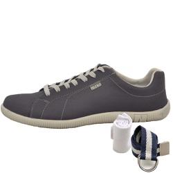 Kit Sapatênis Casual Chumbo + Cinto e Meia - Top Franca Shoes | Calçados confortáveis em Couro