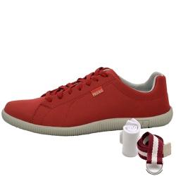 Kit Sapatênis Casual Vermelho + Cinto e Meia - Top Franca Shoes | Calçados confortáveis em Couro