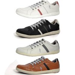 Kit 4 Pares Sapatênis Casual Top Franca Shoes Cinz... - Top Franca Shoes   Calçados confortáveis em Couro