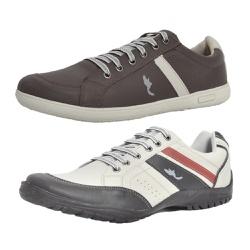 Kit 2 Pares Sapatênis Casual Top Franca Shoes Café... - Top Franca Shoes | Calçados confortáveis em Couro