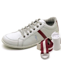 Kit Sapatênis Casual Top Franca Shoes Cinza + Cint... - Top Franca Shoes | Calçados confortáveis em Couro