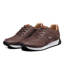 Tênis Sapatênis Lomen Amin Marrom - Top Franca Shoes | Calçados confortáveis em Couro
