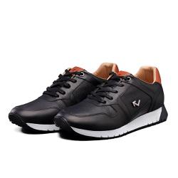 Tênis Sapatênis Lomen Amin Preto - Top Franca Shoes | Calçados confortáveis em Couro