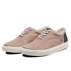 Tênis Sapatênis Lomen Sneakers Boaz Cinza Chocolat... - Top Franca Shoes | Calçados confortáveis em Couro