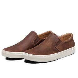 Tênis Sapatênis Lomen Slip On Neftali Pinhão - Top Franca Shoes | Calçados confortáveis em Couro