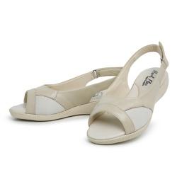 Sandália Top Franca Shoes Feminina Conforto Bege - Top Franca Shoes | Calçados confortáveis em Couro