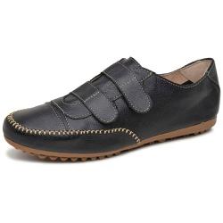 Mocatênis Feminino Top Franca Shoes Preto - Diconfort Calçados | Calçados confortáveis e anatômicos