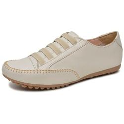 Mocatênis Feminino Top Franca Shoes Bege - Diconfort Calçados | Calçados confortáveis e anatômicos