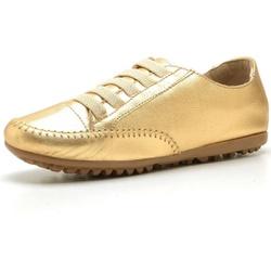 Mocatênis Feminino Top Franca Shoes Dourado - Diconfort Calçados | Calçados confortáveis e anatômicos