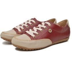 Mocatênis Feminino Top Franca Shoes Bordo e Bege - Top Franca Shoes | Calçados confortáveis em Couro
