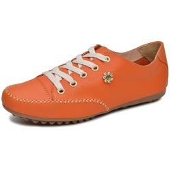 Mocatênis Feminino Top Franca Shoes Laranja - Diconfort Calçados | Calçados confortáveis e anatômicos