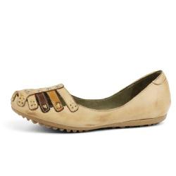 Sandália Sapatilha Feminina Top Franca Shoes Bege - Top Franca Shoes | Calçados confortáveis em Couro