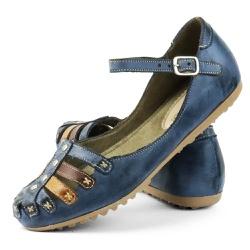 Sandália Sapatilha Feminina Top Franca Shoes Azul ... - Top Franca Shoes | Calçados confortáveis em Couro