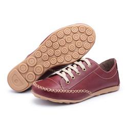 MocaTênis Feminino Top Franca Shoes Vinho - Diconfort Calçados | Calçados confortáveis e anatômicos