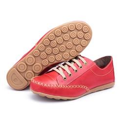 MocaTênis Feminino Top Franca Shoes Vermelho - Diconfort Calçados | Calçados confortáveis e anatômicos