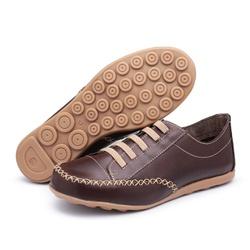 MocaTênis Feminino Top Franca Shoes Cafe - Top Franca Shoes   Calçados confortáveis em Couro