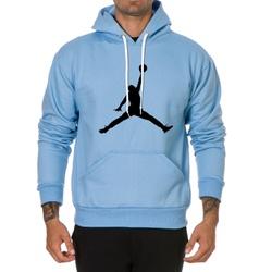 Moletom Masculino Jordan - Azul - Top Franca Shoes   Calçados confortáveis em Couro