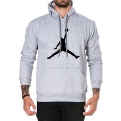 Moletom Masculino Jordan - Cinza - Top Franca Shoes | Calçados confortáveis em Couro