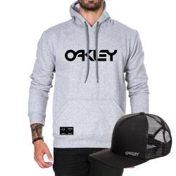 Kit Moleton Tradicional Canguru e Boné Oakley - Ci... - Top Franca Shoes   Calçados confortáveis em Couro