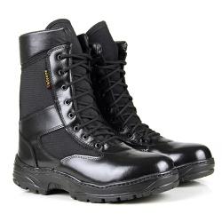 BOTA COTURNO MILITAR PLUS TEK COURO HIDROFUGADO - Top Franca Shoes | Calçados confortáveis em Couro