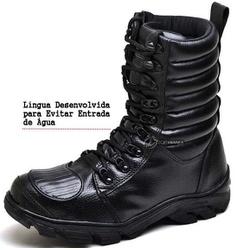 BOTA COTURNO MILITAR MARTZ PRETA - Top Franca Shoes | Calçados confortáveis em Couro