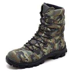 Bota Coturno Militar Tiger Camuflado Camuflado Sel... - Top Franca Shoes | Calçados confortáveis em Couro