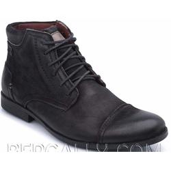COTURNO CASUAL RÚSTICO MASCULINO PRETO 2065 - Top Franca Shoes | Calçados confortáveis em Couro