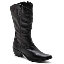 BOTA FEMININA COUNTRY BICO FINO TOP FRANCA SHOES P... - Top Franca Shoes | Calçados confortáveis em Couro