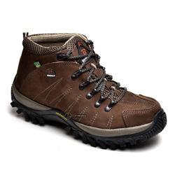 TÊNIS COTURNO ADVENTURE MASCULINO BERGALLY CAFÉ - Top Franca Shoes | Calçados confortáveis em Couro