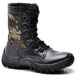 Coturno Bota Tênis Infantil Kids Adventure Militar... - Top Franca Shoes | Calçados confortáveis em Couro