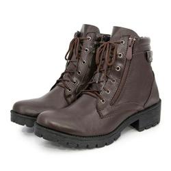 Bota Coturno Feminino Top Franca Shoes Café - Top Franca Shoes | Calçados confortáveis em Couro