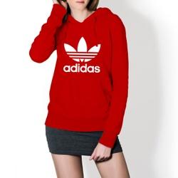 Moletom Feminino Adidas Tradicional - Vermelho - Top Franca Shoes | Calçados confortáveis em Couro