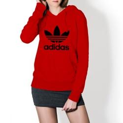 Moletom Feminino Adidas Tradicional - Vermelho e P... - Top Franca Shoes | Calçados confortáveis em Couro