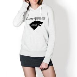 Moletom Feminino Game Of Thrones - Branco - Top Franca Shoes | Calçados confortáveis em Couro