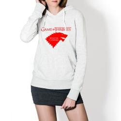 Moletom Feminino Game Of Thrones - Branco e Vermel... - Top Franca Shoes   Calçados confortáveis em Couro