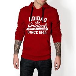 Moletom Masculino Adidas Originals - Vermelho e Br... - Top Franca Shoes | Calçados confortáveis em Couro